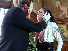 Sexy girl in uniform gets her cunt fucked by a naughty guy