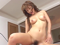 Pretty Yuna Takizawa gets her hairy cunt fucked by a horny friend